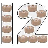 Amathings - Vendaje con adhesivo, 12 unidades, 2,5 cm x 4,5 m...