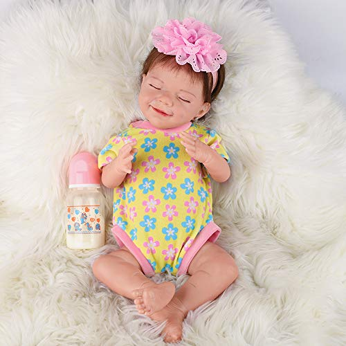 UCanaan Reborn Baby Doll 20 Inches Handmade Full Silicone Dolls Realistic Lifelike Newborn Babies Magnetic Pacifier Kids Toy Gifts