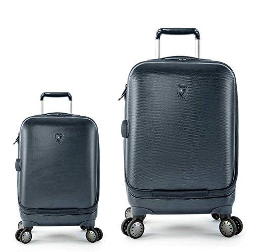 Kofferset, Gepäckset, Reisegepäck by Heys - Premium Designer Hartschalen Kofferset 2 TLG. - Crown Smart Portal Blau Koffer mit 4 Rollen Medium + Koffer mit 4...