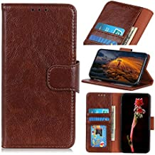 For Oppo K1 Case, Strong Magnetic Closure Leather Wallet Case with Card Holders and Kickstand for Oppo K1 (Color : Brown)