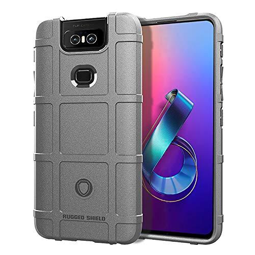 Custodia® Festigkeit & Flexibilität Smartphone Hülle für Asus Zenfone 6 ZS630KL/Asus Zenfone 6z/Asus Zenfone 6 2019(Grau)