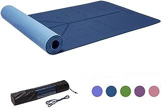 Yoga Mat, Tapete de Yoga, Estera de Yoga, 6mm Eco Friendly Pilates Mat, Colchoneta de Yoga Extra Larga y Ecológica Colchón de Ejercicios Antideslizante Esterilla de Entrenamiento para Pilates y Yoga con un Sistema de Alineación Corporal