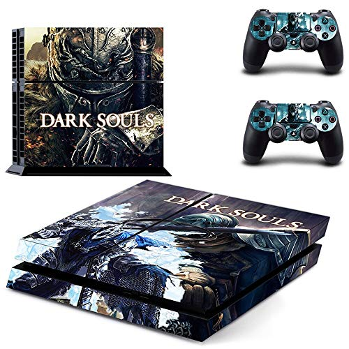 FENGLING Dark Souls Remastered Ps4 Skin Sticker Calcomanía para Playstation 4 Consola y 2 Controladores Skins Ps4 Pegatinas Accesorio de Vinilo