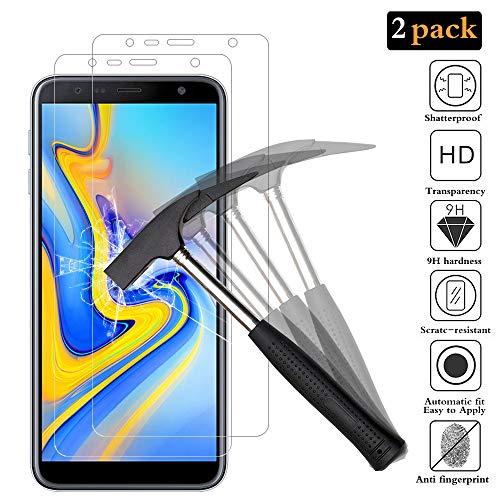ANEWSIR [2 Stück] Schutzfolie für Samsung Galaxy J4 Plus/j6 Plus, [Blasenfrei] [Ultra-klar] Bildschirmschutzfolie Folie Für Samsung Galaxy J4+/j6+