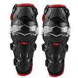 Protezione del ginocchio del motociclo di 2 pezzi Protezione del ginocchio del motociclo Protezioni per il ginocchio del gomito del gomito(Rosso)
