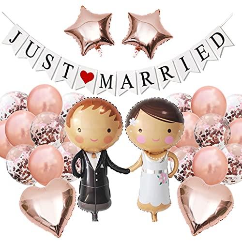 Globos de boda con texto