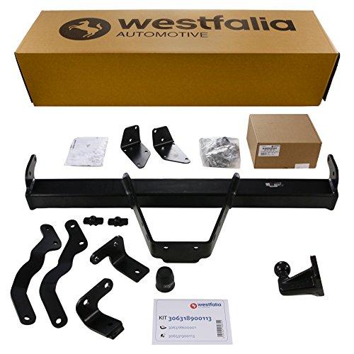 Westfalia Starre Anhängerkupplung (4-Loch) für Peugeot Boxer, Citroen Jumper, Fiat Ducato (alle Pritsche, ab BJ 06/2006) im Set mit 13-poligem fahrzeugspezifischen Elektrosatz
