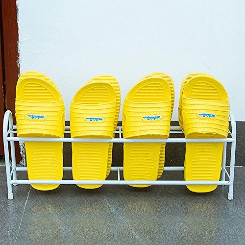 LJHA Salle de bains Creative Iron Art pantoufles Rack / dortoir derrière la porte / drain petite chaussure rack / rack de stockage de chaussures 45 * 10 * 20 cm (3 couleurs disponibles) Meubles à chaussures ( Couleur : Blanc )