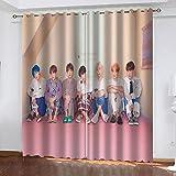 LucaSng Celebridad cortinas opacas cortas para ventanas Personaje cortinas...