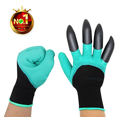 HAODE FASHION Sturdy Claws Garden Genie Gloves with Fingertips Unisex Right Hand Claws Quick Easy to Dig and Plant Waterproof Gardening Tools - As Seen On TV (Right Hand Claw 1 Pair)