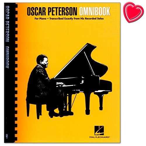 Oscar Peterson Omnibook - Piano Transcriptions (Larry Dunlop) - album songboek voor piano met kleurrijke hartvormige muziekklem