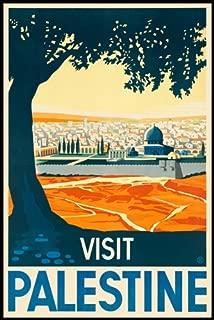 VISIT PALESTINE TRAVEL CITY TREE JERUSALEM West Bank and the Gaza Strip TRAVEL TOURISM VINTAGE POSTER REPRO 16