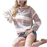 Top da Donna Invernali Caldo e Resistente al Freddo alla Moda e Larghi Maniche Lunghe con Cappuccio Maglioni Top