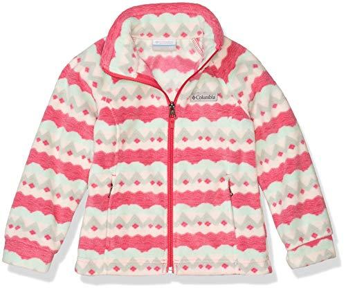 Columbia Girls' Toddler Benton Springs II Printed Fleece Jacket, Cactus Pink Striped Peaks, 2T