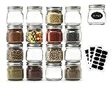 Mason Jars 8 oz 30 Pack- Small Mason Jars With Silver Lids -1/4 Quart Canning Jars| Storage Pickling...