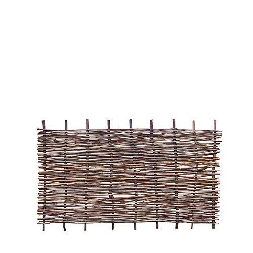 Weidenprofi Sichtschutz, Haselnusszaun Modell Stabil, Flechtzaun aus Hasel, Größe (BxH): 180 x 90 cm