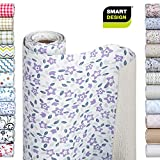 Smart Design Shelf Liner Bonded Grip - (12 Inch x 10 Feet) - Drawer Cabinet Smooth Top Non Adhesive - Home & Kitchen [Lavender Wildflower]