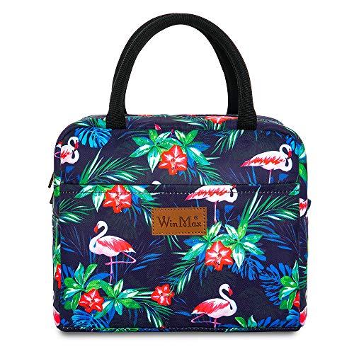 winmax Sac Repas Lunch Bag Sac à Déjeuner Sac Fraîcheur Portable Isotherme Grande Capacité pour l'école et Le Travail et Pique Nique - Flamingo