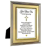 Baby Baptism Gift for Girl or Boy Sweet Poem in 5x7 Inch Frame