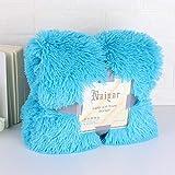 XOCKYE Kuscheldecke Tagesdecke Decke Plüschdecke Flauschig Bettüberwurf Warm Weich Zweiseitig Überwurf Fellimitat Schlafzimmer Wohnzimmer Kinderzimmer@130x160cm_Blau