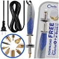 Chandler Tool - 30 Watt - Pyrography Woodburner with Solid Brass Tips - for Woodburning Leather Burning Soldering DIY