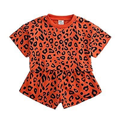Amazon - 70% Off on Toddler Baby Girls Leopard Print Summer Clothes Set Short Sleeve T-Shir…