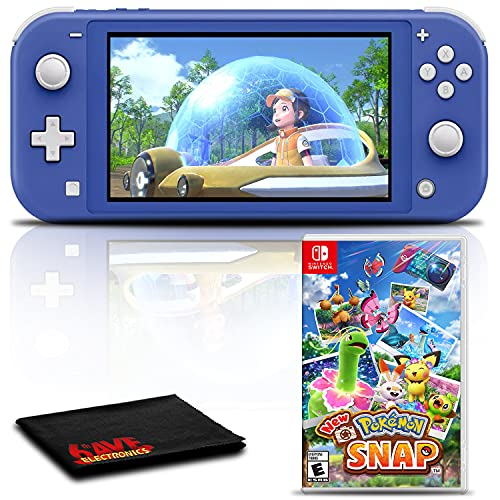 Nintendo Switch Lite (Blue) Gaming Console Bundle with Pokemon Snap