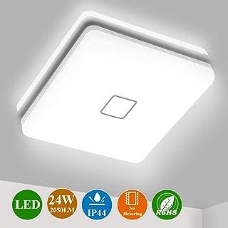 Plafon LED Techo Cuadrado, Airand 24W Lámpara Techo LED de