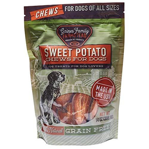 Gaines Family Farmstead Sweet Potato Dog Chews, USA Made, Natural (14 oz. Bag)