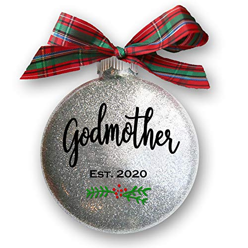 Firefly Wishes Godmother Christmas Ornament, Christening or Baptism Gift for Godparents