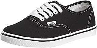 Vans Authentic Lo Pro Skate Shoe, (US Women's 8 B(M) / US Men's 6.5 D(M), Black/True White)