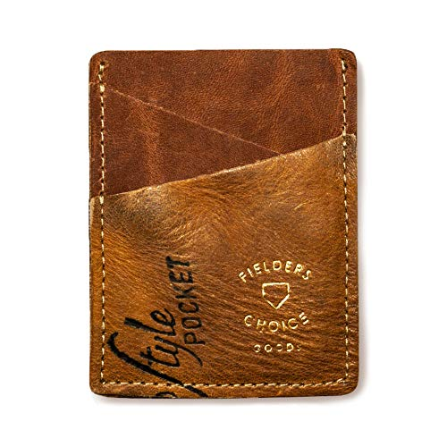 Fielders Choice Goods Credit Card Holder Money Clip Baseball Glove Leather Magnetic Money Clip Wallet for Men and Women