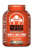 Muscle Beach Nutrition 100% All-Pro Advanced Tri-Phase Release Whey Protein Isolate Concentrate, Micellar Casein for Men & Women - Workout Supplement to Recover Muscles - Vanila, 4lb