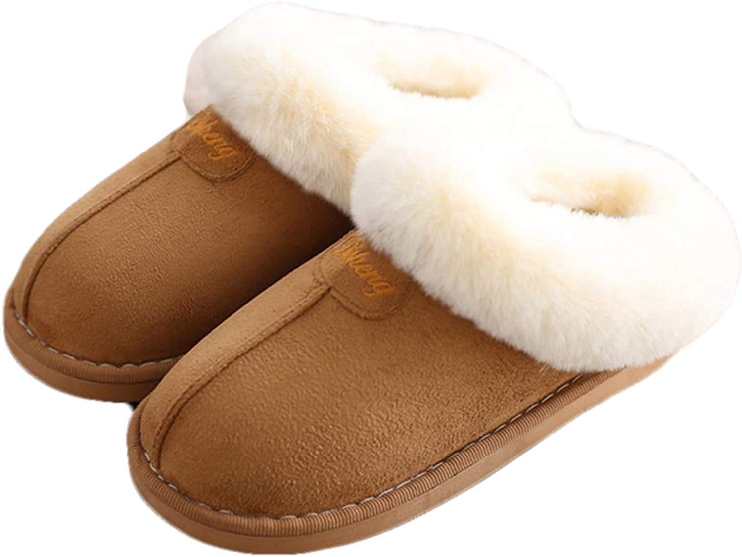 York Zhu Home Slippers,Memory Foam Fluffy Warm Non-Slip Slip-on House shoes Plush Indoor