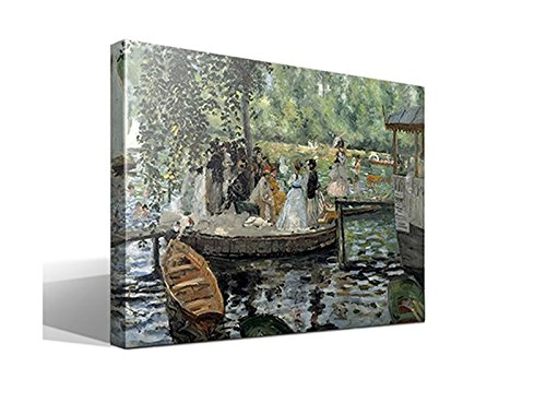 cuadrosfamosos.es Cuadro Canvas La Grenouillère de Oscar-Claude Monet - Calidad HQ