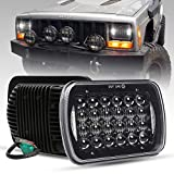 COWONE Cree 5D Projector H6054 Led Headlight 7'x6' 5x7 inch LED Headlights Compatible with Jeep Wrangler YJ Cherokee XJ H6054 H5054 H6054LL 69822 6052 6053 2Pcs Black