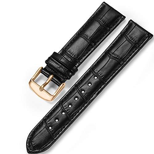 iStrap Cinturino In Pelle - Motivo A Coccodrillo - Cinturini Per Orologio Per Uomo Donna - Fibbia In Acciaio Inossidabile - 18mm 19mm 20mm 21mm 22mm 24mm-Nero Marrone