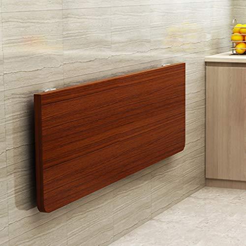 QL Umweltfreundlicher schwimmender Wandklapptisch, Massivholz Küchentisch Edelstahlbügel mit abgerundeten Ecken und starker Tragfähigkeit
