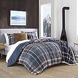 Eddie Bauer Shasta Lake Comforter Set, Full/Queen, Navy