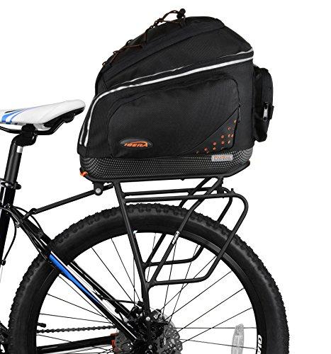 Ibera Bike PakRak Clip-On Commuter Bag & Carrier Plus+ Rack (Disk Brake Mounts) Combo Set