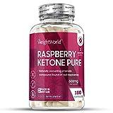 Raspberry Ketone Puro - Suplemento De Cetonas De Frambuesa - Ayuda A Adelgazar De Forma Segura y Eficaz - Perder Peso Y Quemar Grasa De Forma Natural - 180 Cápsulas