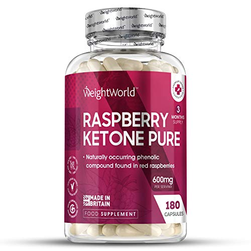 Raspberry Ketone Pure Pills - 1200mg Max Strength Serving Ketones for Diet Support, Natural Cleanse & Diet Management - 180 Vegan Pure Raspberry Capsules for Diet