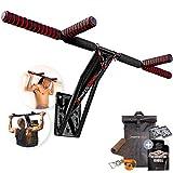 Sportstech Premium 2in1 Klimmzugstange & Dip Bar KS700 | leichte Montage | mobiles Fitnessgerät für Zuhause + Wand, Baum, Garten | über 40 Übungen | im Set: Spanngurt, Rucksack, Baumschutz + eBook