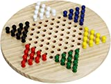 Silly Goose Games Wooden Chinese Checkers | Natural Wooden Board Game | Includes 60 Traditional Pegs, Game for Adults, Boys and Girls in 6 Colors for Up to Six Players | All Ages Classic