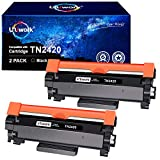 Con chip - Uniwork Cartuchos de tóner Reemplazo para Brother TN2420 TN2410 Compatible con Brother HL-L2310D HL-L2350DW HL-L2370DN HL-L2375DW DCP-L2510D DCP-L2530DW MFC-L2710DN MFC-L2710DW (2 Negro)