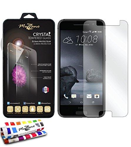 MUZZANO Schutzglas für HTC One A9[schützt] [transparent] Eingabestift und Reinigungstuch angeboten–Der Schutz stoßfest ultimative, Elegante und nachhaltige für Ihr HTC One A9