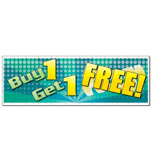 VictoryStore Outdoor Banners - Business Banner - 4 feet X 12 feet Buy One Get One Free!� 10 Ounces Vinyl Banner, with Grommets for Hanging Photo #2