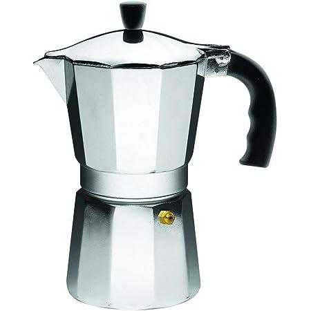 IMUSA USA B120-42V - Cafetera exprés de aluminio para estufa, plateada, Tamaño de 3 tazas
