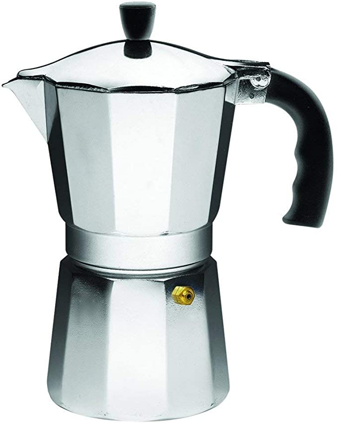 Jaimenalin Stovetop Espresso Maker Cafetera Moka Pot para Estufa de Gas o El/éCtrica 3 Tazas Espresso Shot Maker para Italiano