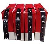 Personal Labels Lote de tallas en negro impresión plata S - M -L XL (50)